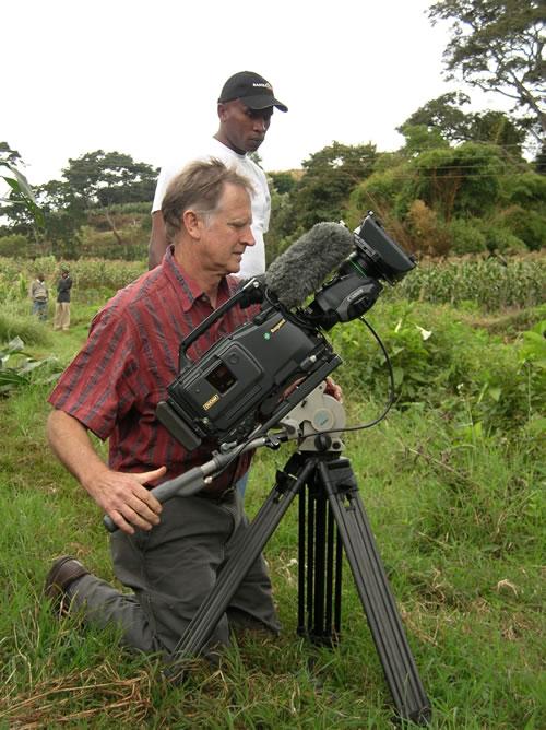 Alan Dater with the Vinten Vision 10 in Kenya snapshot