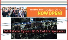 NAB Show Opens 2015 Call for Speakers