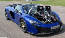 SUMO100 mounted on a Mclaren 650s Spider