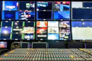 Professional video mixing console, transmission control full.